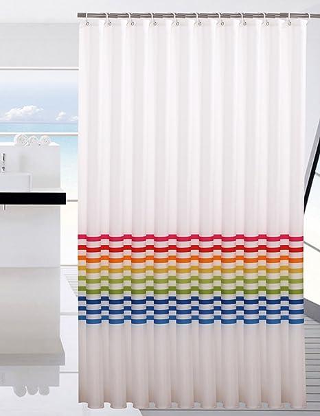 Bathroom Wall Art Rainbow Shower Curtains Waterproof Thicker