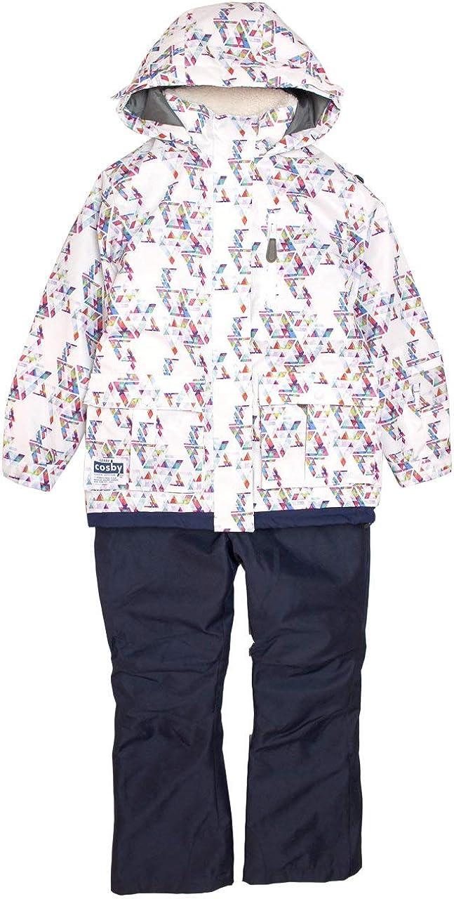 COSBY(コスビー) スキーウェア キッズ ジュニア 女の子 子供 スノーウェア csg4282 ホワイト 140cm