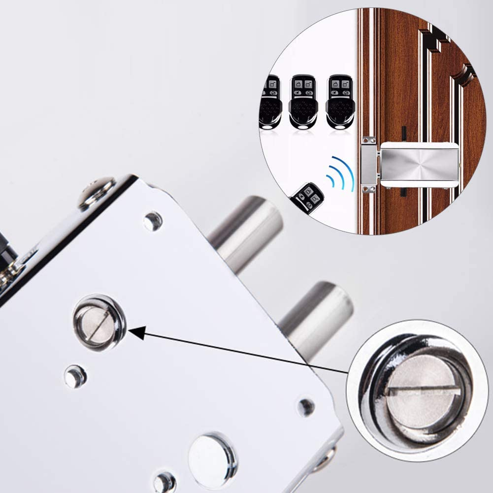 Heavy Duty Zinc Alloy Slide Bolt Door Chain Latch Gate Latches Safety Door Lock Door Clasp Anti-Theft Safety Lock Gold with Remote Control Wireless High End Lock