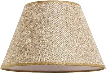 Pantalla de lino Tamaño personalizado, Cubiertas de pantalla para Lámpara de mesa Sala de estar Lámpara de pie Accesorios de iluminación Cubiertas Restaurante Hotel Decoración Pantalla grande,Beige: Amazon.es: Iluminación