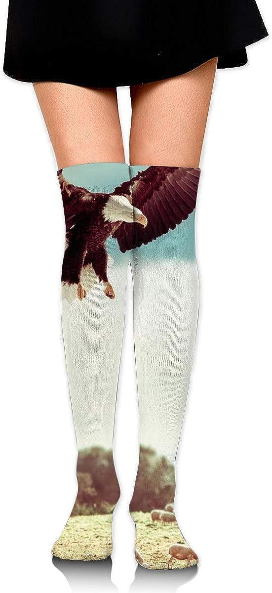 High Elasticity Girl Cotton Knee High Socks Uniform Sheep And Eagle Women Tube Socks