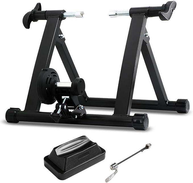 Yaheetech Entrenamiento Bicicleta Rodillo Negro para Bicicleta de ...