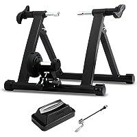 Yaheetech Entraineur Turbo Magnétique de Vélo Réglable Piable Home Trainer Vélo Département Noir