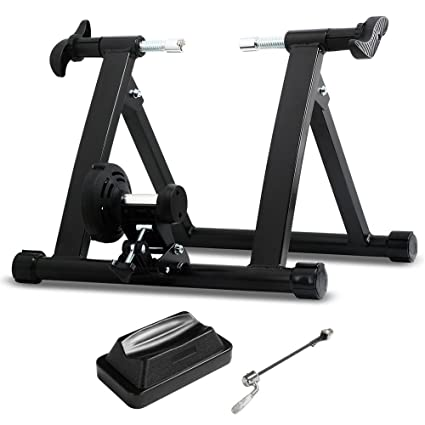 2e5112cb3f Amazon.com : Yaheetech Premium Steel Bike Bicycle Indoor Exercise Bike  Stationary Workout Trainer Stand : Sports & Outdoors