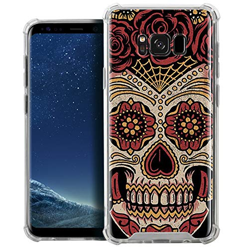 CasesOnDeck Clear Case Compatible with [Samsung Galaxy S8+ / S8 Plus][MAX Clarity] TPU Bumper Hard PC Plastic Backing Slim (Sugar ()
