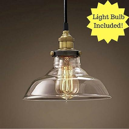 Buyee - Lámpara de techo de cristal estilo industrial para ...