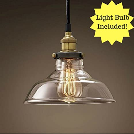 Retro Dig Industrial Vintage Style Light Fitting Glass Ceiling