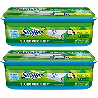 Swiffer Sweeper Wet Mopping Cloth Refill - Open Window Fresh - 24 ct - 2 pk