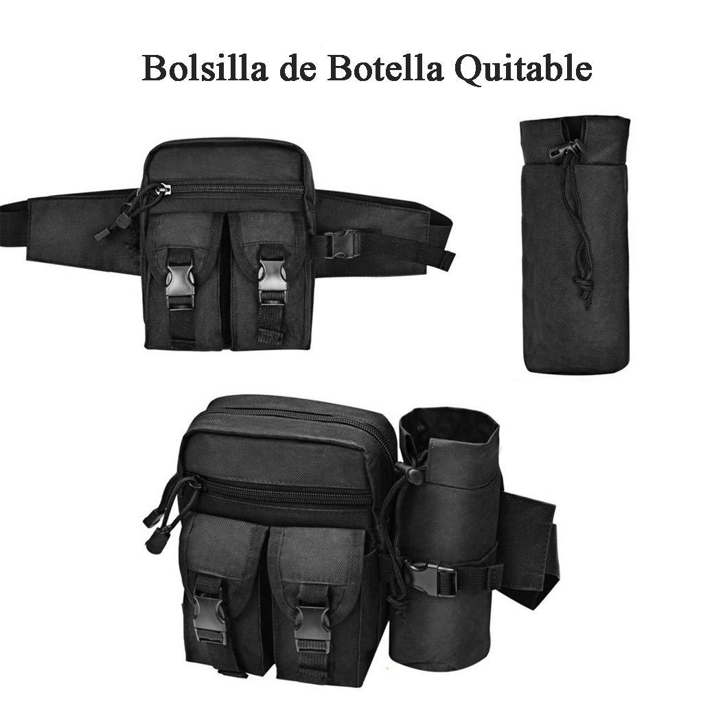 Bolsa Cintur/ón T/áctica para Senderismo Resistente y Dura Mochila Militar Ri/ñonera para Hombre Campamentos Ciclismo