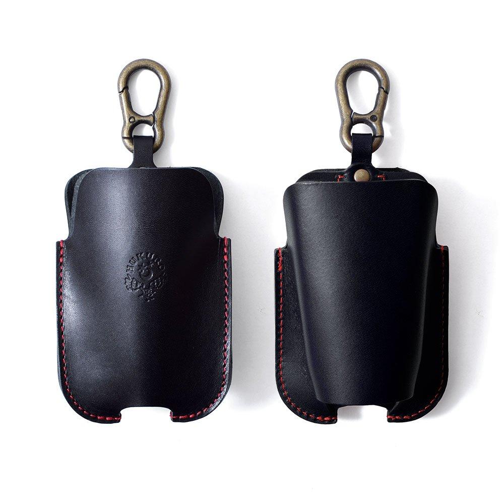 【HUKURO】スマートgloケース-with本革 栃木レザー (ブラック×赤糸) B076DYB4ZSブラック×赤糸