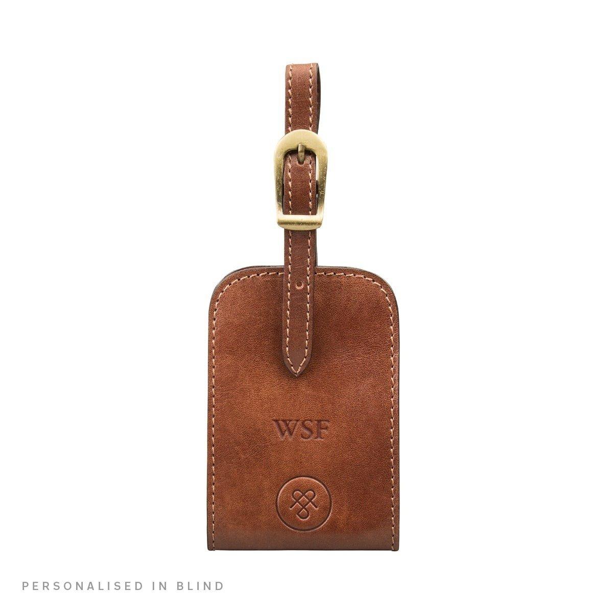 Maxwell Scott® Personalised Luxury Black ID Luggage Tags (The Ledro) - One Size Maxwell Scott Bags Ledro_819_3