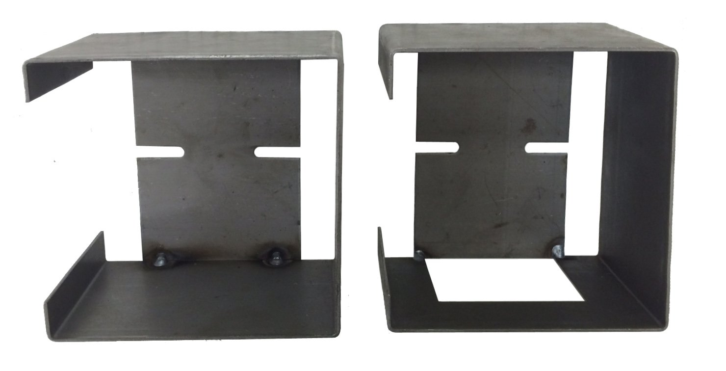 Set of Steel Trailer Square Tail Light Mounting Boxes
