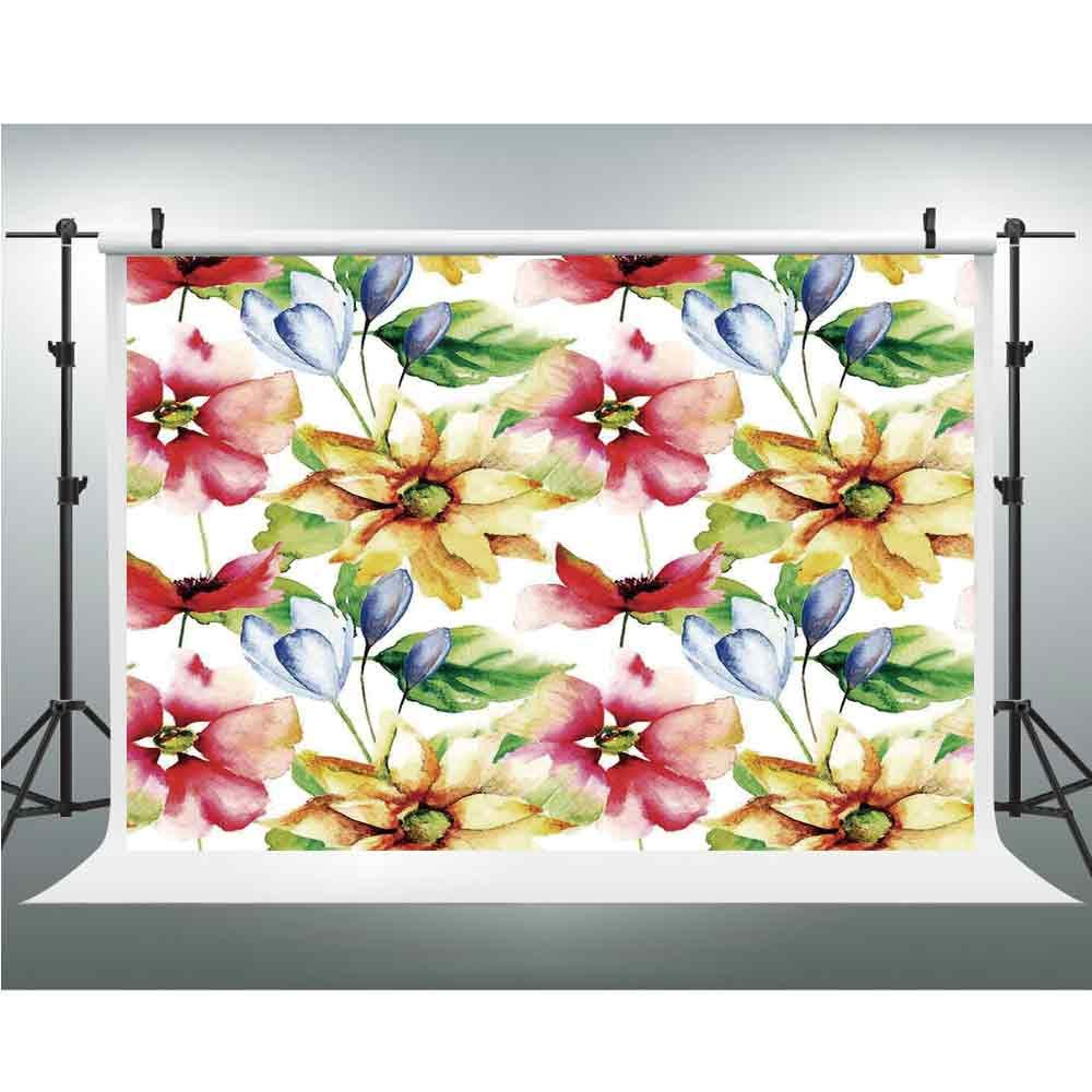 Amazon Com Backdrops For Photography Watercolor Flower