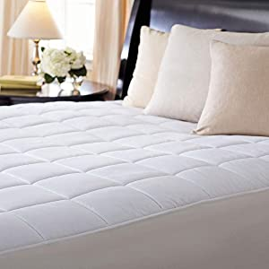 Sunbeam Electric Heated KING Mattress Pad Two Controllers, 20 Heat Settings And 100% Quilted Cotton Topper, KING