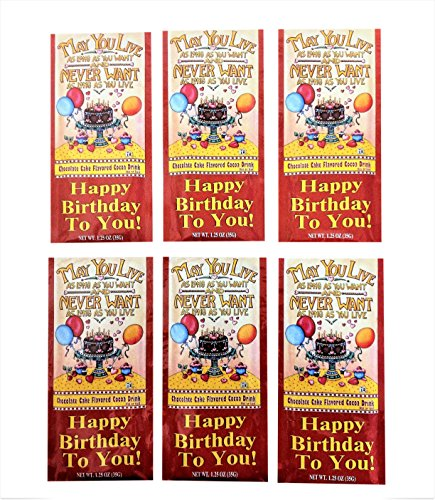 Drink Mix Cake (McSteven's - Happy Birthday Cocoa Drink Mix - Chocolate Cake Flavor, Pack of 6)