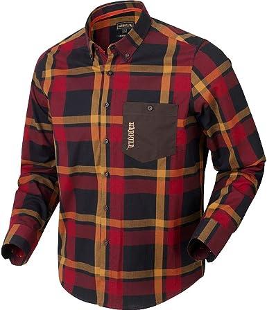 Harkila Amlet L/S Camisa Roja/Negro Cuadros XL Cuadros XL Cuadros: Amazon.es: Ropa y accesorios