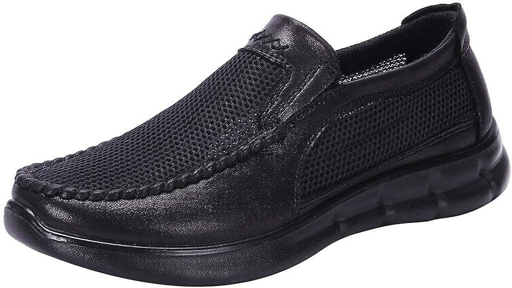 OPAKY Zapatos de Malla para Hombre Zapatos Sueltos y Cómodos para papá Zapatos Gruesos Casuales de Negocios Transpirables Casual