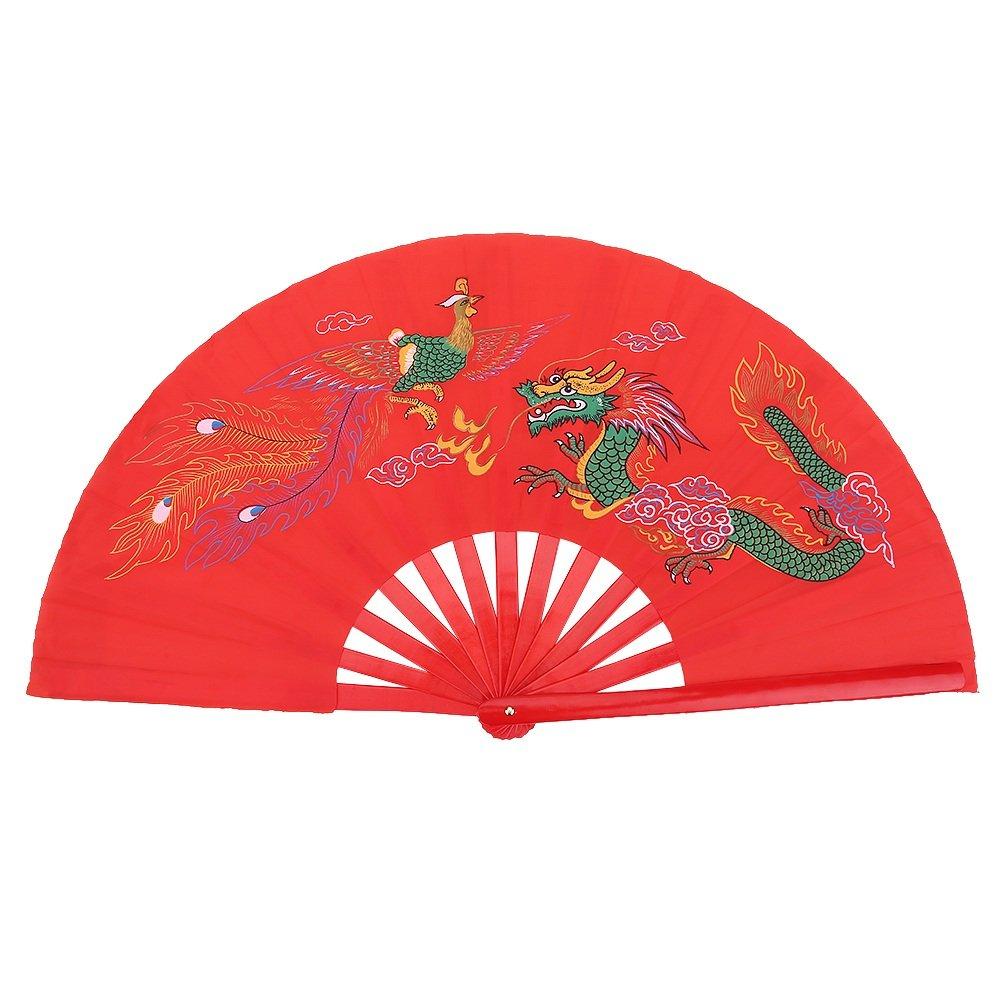 Fan Cinese di Bambù, Ventaglio Pieghevole per Kung Fu Tai Chi Arti Marziali, Mano Destra VGEBY