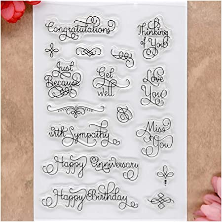 Anniversary embossing and transparent stamp set