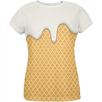 Schmelzender Vanille Eiscreme-Kegel aller Damen-T-Shirt