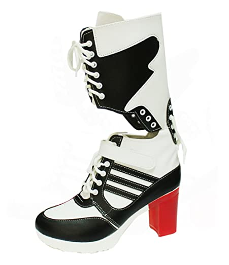 Women's Cosplay Clown Girl Artificial Leather High Heel Boots Shoes