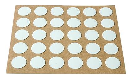 Brinox B77905B Embellecedor cubre-tornillos adhesivo Blanco Set de 2030 Piezas
