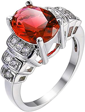 XAHH Jewelry Fashion 3mm 925 Sterling Silver Plated 3 Stones Cubic Zirconia CZ Ring for Girl Women