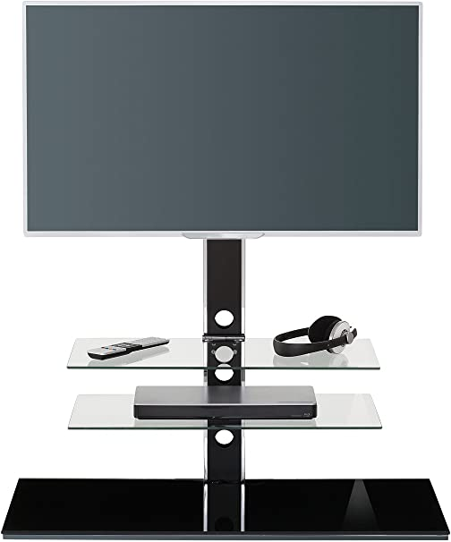 Maja Muebles de TV Rack, Cristal, Negro Cristal, 100,00 X 45,00 X 102,00 cm: Amazon.es: Hogar