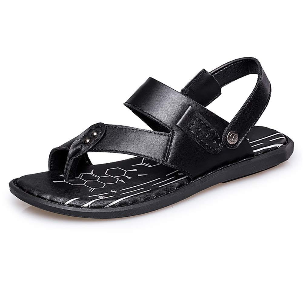 Schwarz CHENXD Schuhe, Herrenmode Leichte Sommer Sandalen Lau ;ssige Einfache Schnalle Clip-on Hausschuhe (Farbe   Schwarz, Grou ;szlig;e   39 EU)