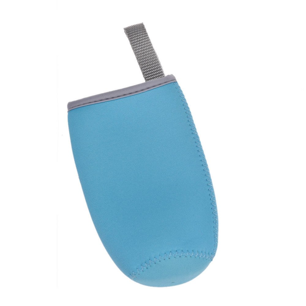 AGUIguo Clear Plastic Water Cup Bottle Portable Bag (Light Blue)
