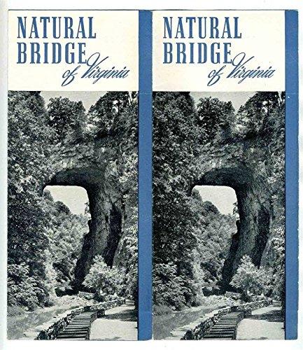 Natural Bridge Hotel & Cottages Brochure Natural Bridge Virginia 1950's