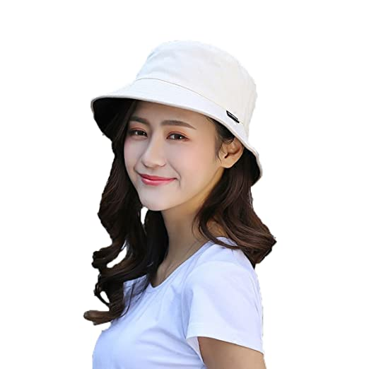 Amazon.com  Both Sides wear Womens Summer Flap Cover Cap Cotton UPF 50+ Sun  Shade Hat Outdoor Wide Brim Beach Hat Foldable  Clothing af9c9a2b77