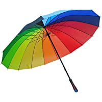 HEMIZA Zamkar Trades Light Weight Colourful Rainbow Umbrella for Rain and Photography (Big Size)