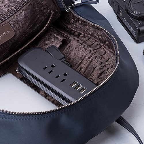 Ntonpower 3 Port Usb Power Strip With 2 Outlets Wrap