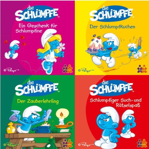 Mini-Bücher Die Schlümpfe 1-4 (4er Set)