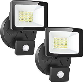 Onforu 2× 30W Foco LED Exterior con Sensor de Movimiento ...