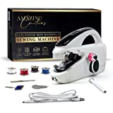 Amazing Creations Portable Handheld Sewing Machine - Includes USB Cable, Bobbins, Threader, Spindle and Replacement Needle -
