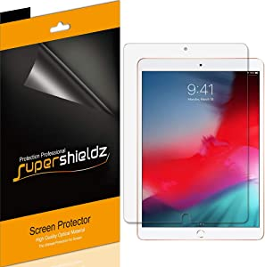 (4 Pack) Supershieldz for Apple iPad Air 3 (10.5 inch 2019 Model, 3rd Generation) and iPad Pro 10.5 inch Screen Protector, High Definition Clear Shield (PET)