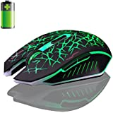 Pulison(TM) 2.4GHz Wireless 7D Rechargeable 2400DPI 6 Buttons Optical Usb Gaming Mouse