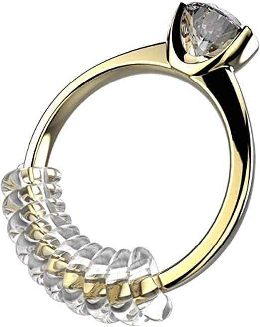2 tamaños ajuste claro anillo de ajuste con joyas gamuza de ...