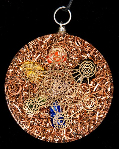 Luvin life metatrons cube 7 chakras crystals stone orgone pendant luvin life metatrons aloadofball Gallery