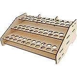 Blesiya Wood Paint Bottle Rack Model Organizer Brushes Tool Storage Stand Holder Box
