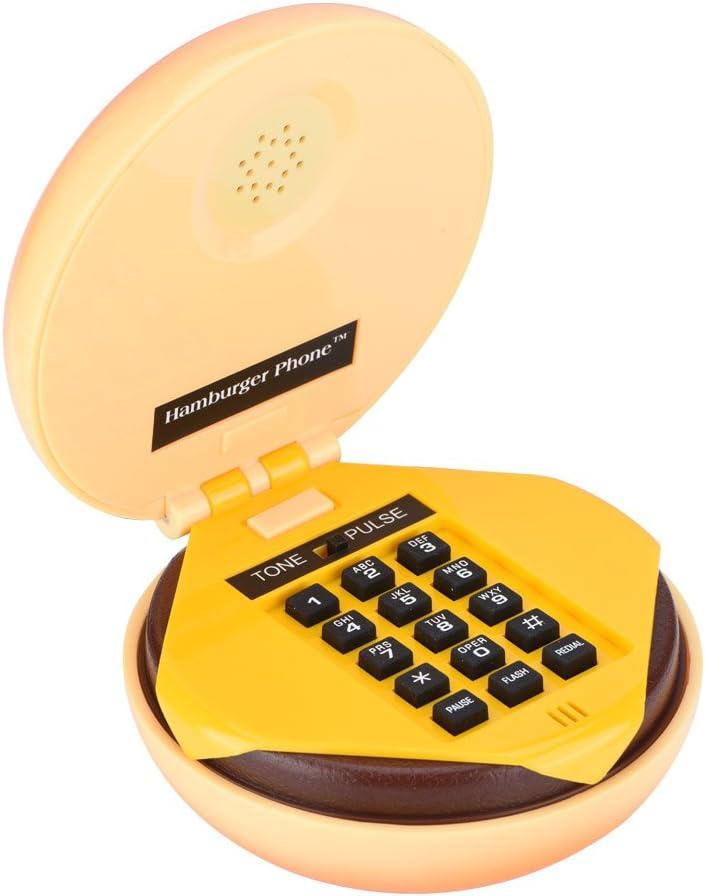 Yoidesu Hamburger Phone Wired Landline Phone,Novelty Hamburger House Phone Burger Phone Gift Phone Funny Phone Landline Telephone for Home Restaurant Hotel Office Decoration Kids Gift