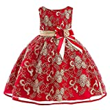 Romance8 Tutu Red Girls, Sleeveless Flower Lace Dress Skirt Princess Tutu