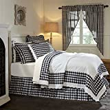 3 Piece Black White Plaid Pattern Quilt King Set, Elegant Classic Buffalo Checkered Design Borders, Hand-Work Tufted Check Bedding, Classic French Country Style, Solid Colors, Cotton, For Unisex