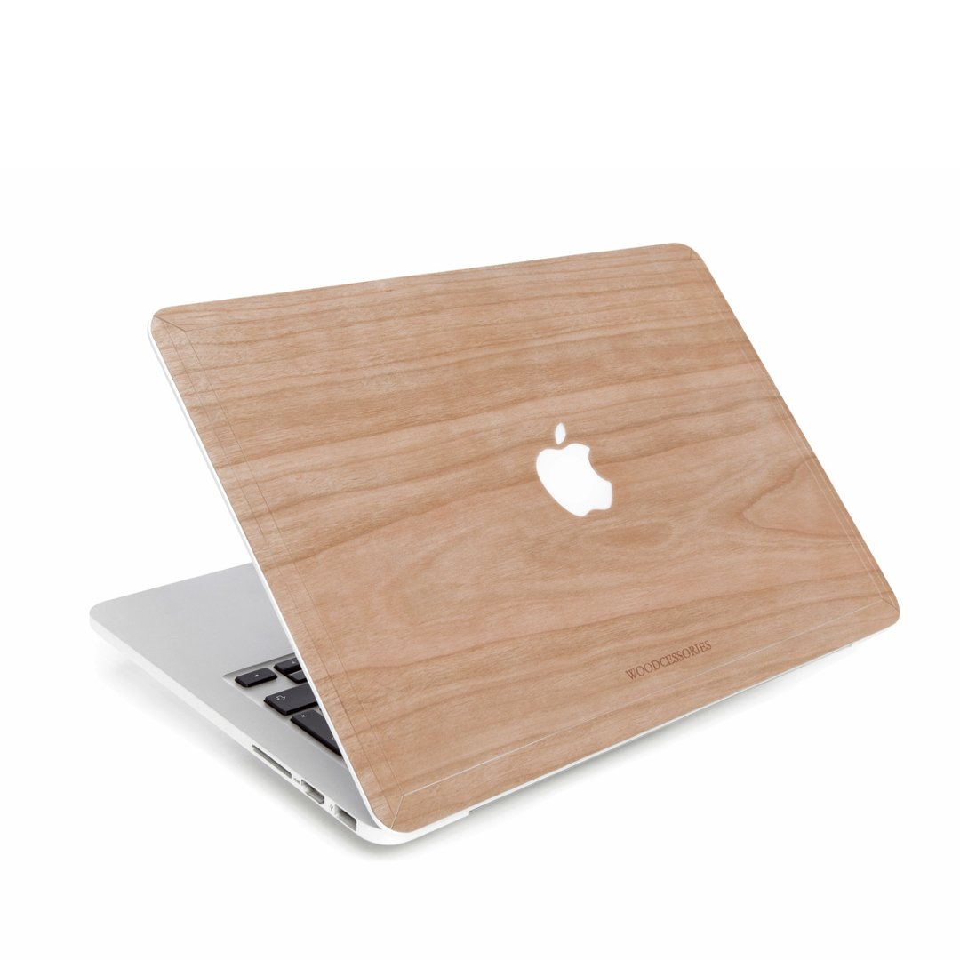 Woodcessories - Skin Compatible with MacBook 15 Pro Retina of Real Wood, EcoSkin (Cherry)