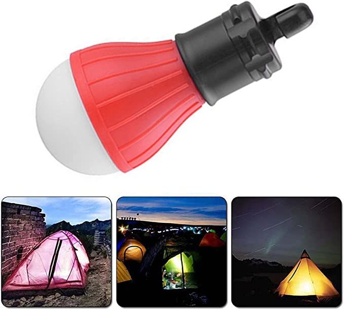 Garciasia 3 LED Ultra Brillante Manija Exterior L/ámpara de Camping Carpa pl/ástica Bombilla con Gancho para l/ámpara Senderismo Iluminaci/ón Colgante Color: Verde
