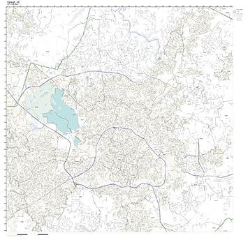 Amazon.com: ZIP Code Wall Map of Raleigh, NC ZIP Code Map Not ...
