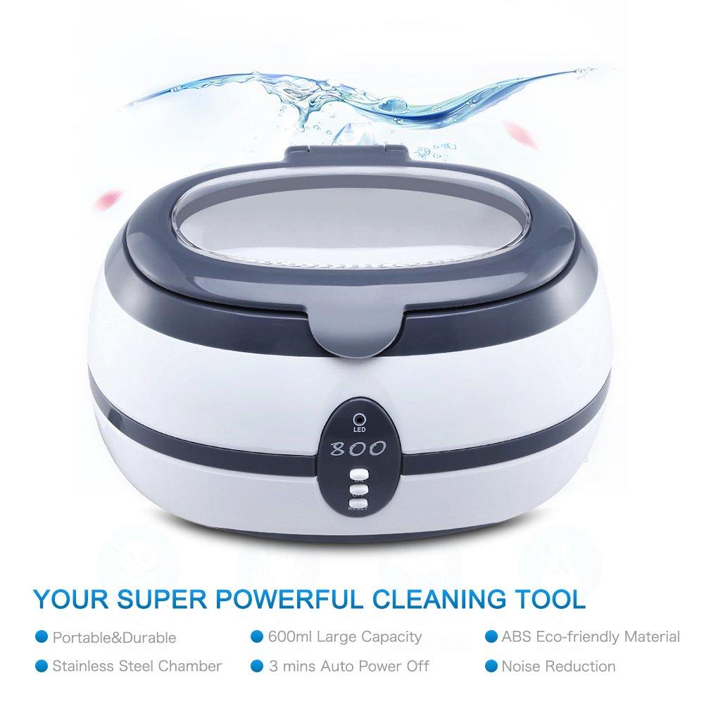 Pulitori a ultrasuoni 600ML uten Sterilizzatore elettriche per pulire orologi//Gioielli//Occhiali//Paradenti//CD cucina professionale