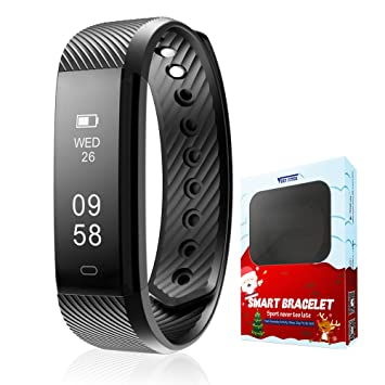 peachfit TK47 Fitness Tracker reloj inteligente podómetro actividad Tracker Bluetooth 4.1 a Prueba de Sudor deportes ...